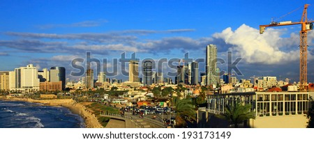 View of the Tel Aviv, Israel. Day.