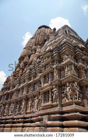 View of the temples of Khajuraho, India