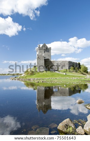 View of the 15th century Dunguaire Castle, Galway Bay in Kinvara, Ireland. - stock photo