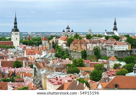 View of the Toompea hill. Tallinn, Estonia - stock photo