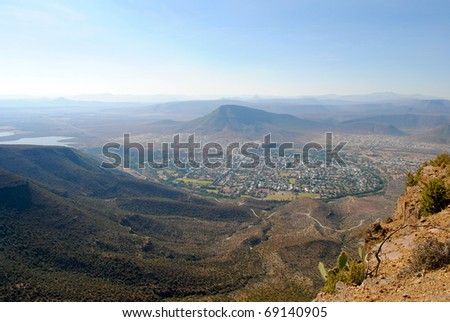View of the town of Graaff Reniet, Great Karoo, South Africa