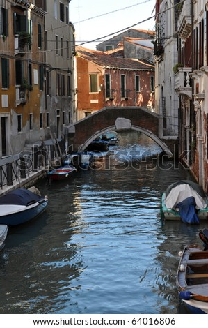 View of the town of Venice (Venezia) in Italy