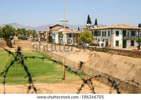 View of the Turkish part of Nicosia - stock photo