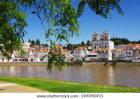 View of the typical town of Alcacer do Sal in the Alentejo region of Portugal - stock photo