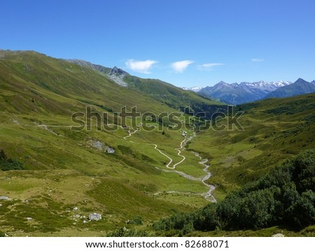 View of the valley - stock photo