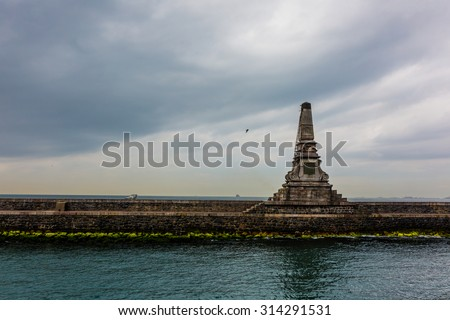 View of the waterfront in Istanbul, Turkey - stock photo