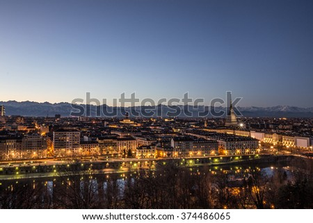 View of Torino in colors