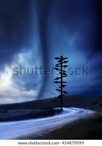 view of tornado - stock photo
