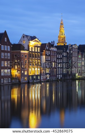 view of traditional old buildings in Amsterdam