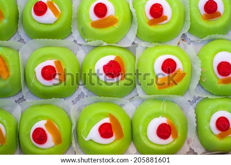 View of tray with delicious sicilian pastries - stock photo