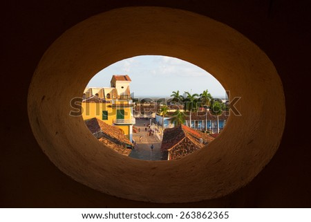View of Trinidad, Cuba from up - stock photo