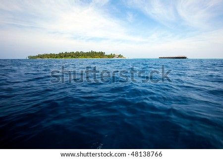 View of tropical island from the ocean!