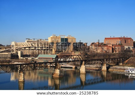 View of University of Tennessee in Knoxville. - stock photo