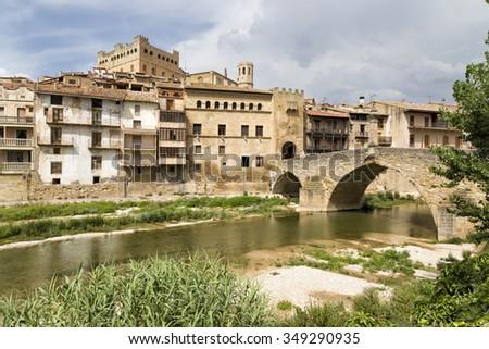 View of Valderrobres, Teruel, Aragon community, Spai - stock photo