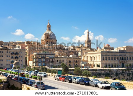 View of Valletta city. Malta. Europe - stock photo