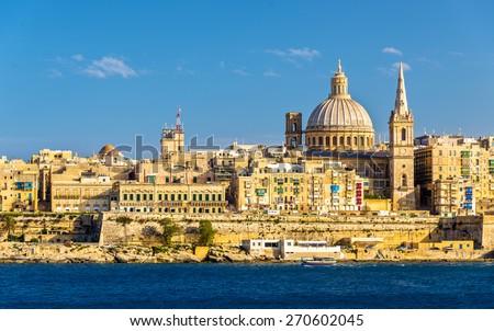 View of Valletta, the capital of Malta - stock photo
