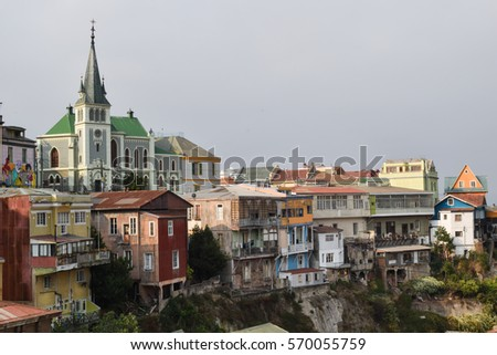 View of Valparaiso in Chile