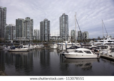 View of Vancouver water front in downtown