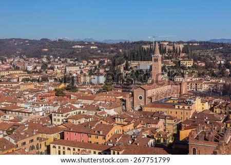 View of Verona - stock photo
