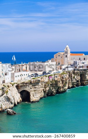 View of Vieste, Italy - stock photo