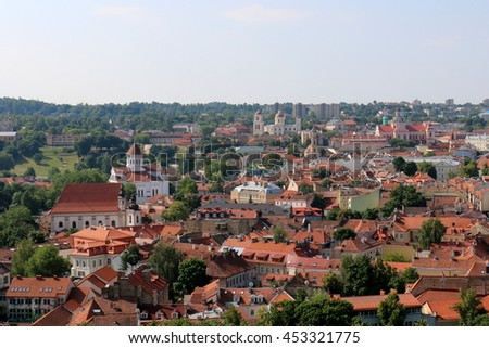 view of Vilnius from Gediminas Castle
