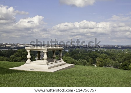 View of Washington DC from Arlington National Cemetery