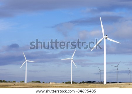 view of windmills for electric power generation alternative