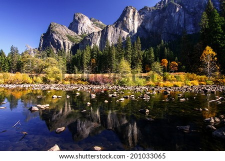 View of Yosemite National Park - stock photo