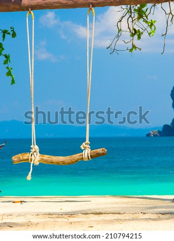 View on a Bay Tropical Scene  - stock photo