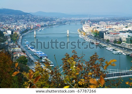 View on Budapest and Danube, Hungary - stock photo