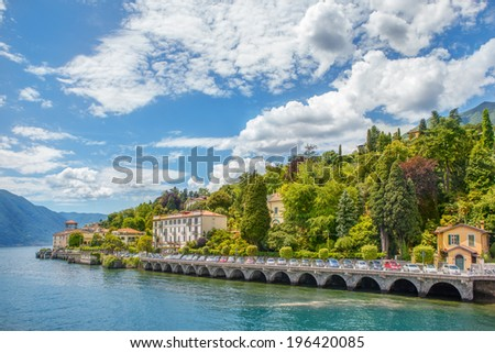 View on Cadenabbia community placed on the western shore of Como lake, in Lombardy, Italy - stock photo