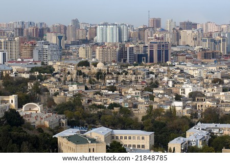 View on center of Baku, Azerbaijan. - stock photo