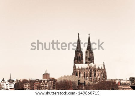 View on Cologne Cathedral, Germany - stock photo