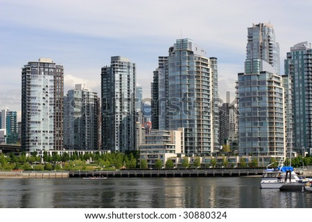 View on downtown Vancouver from False Creek.