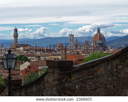 view on florence city. italy - stock photo
