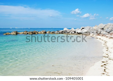 View on Fort Taylor Beach in Key West Florida - stock photo