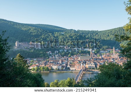 View on Heidelberg on the morning, Germany - stock photo