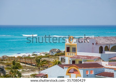 View on hotel , Cayo Largo island. Cuba - stock photo
