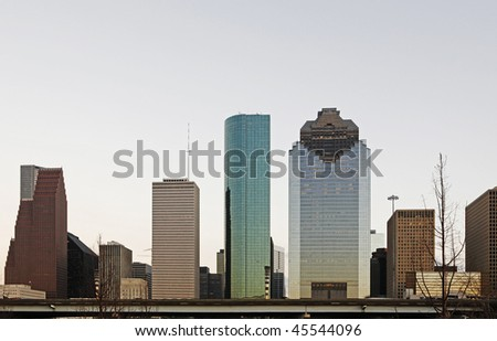 View on Houston Downtown Buildings - stock photo
