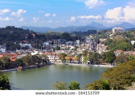 View on Kandy City, SriLanka - stock photo