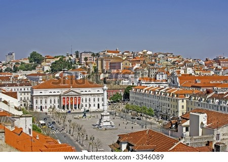 View on Lisbon innercity in Portugal