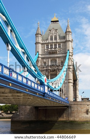 view on london from the thames - stock photo
