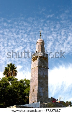 View on Minaret (beauty sky, vertical)