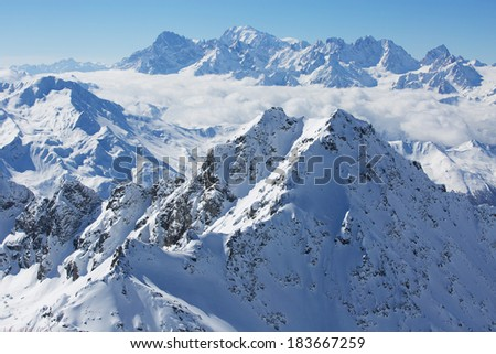 View on Mont Blanc - stock photo