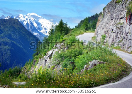 View on Mont Blanc. - stock photo