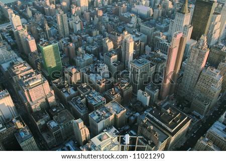 View on New York City - stock photo