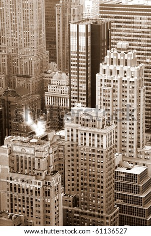 View on New York city buildings - stock photo