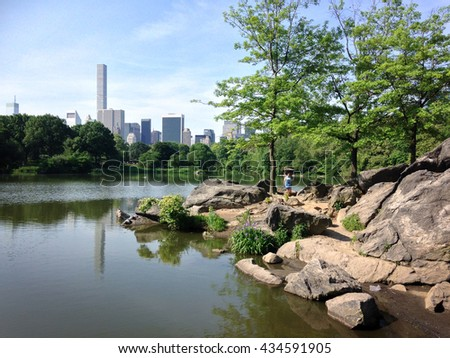View on New York City from Central Park