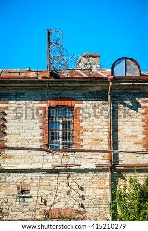 View on old building of Patarei prison in Tallinn, Estonia - stock photo