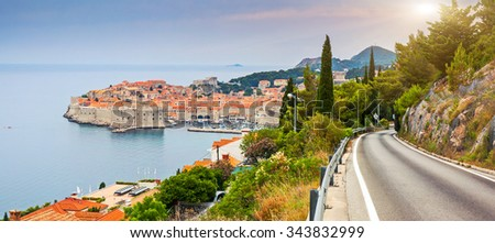 View on old town of Dubrovnik, Croatia. Balkans, Adriatic sea, Europe. Beauty world. - stock photo